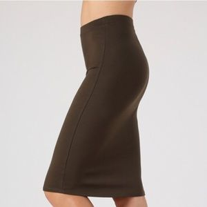 Ladies Women Olive Straight Career Pencil Skirt